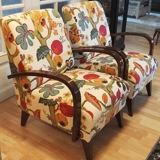 verhoomo elegante nojatuolien verhoilua helsingissä